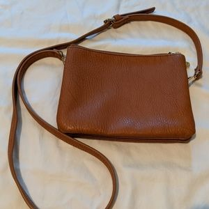 Cognac small crossbody purse